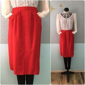 Vtg 80s Adolph Schuman for Lilli Ann skirt